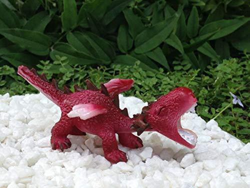 UNAMY ST Miniature Dollhouse Fairy Garden   Mini RED Dragon Roaring Figurine   Yard, Garden, Ornaments, Statues by UNAMY ST