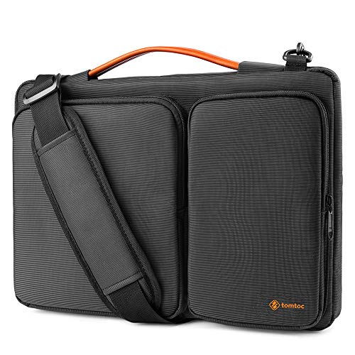 tomtoc 360 Protective Laptop Shoulder Bag for 2020 New Dell XPS 15, 15-inch MacBook Pro A1990 A1707, Surface Laptop 3 15, Waterproof Ultrabook Case for 14 Acer HP Dell Chromebook, ThinkPad X1 Carbon Hawaii