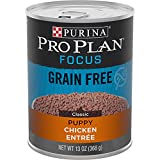 Purina Pro Plan Grain Free, High Protein Wet Puppy Food, FOCUS Classic Chicken...
