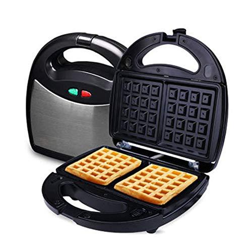3 in 1 Haushalt Waffeleisen, Gegrillt Sandwich-Maschine Komplett automatisch Frühlingsrolle Maschine Elektrische Kuchenfeile, Antihaft-Beschichtung, 800W Geschirr Mit drei Platten