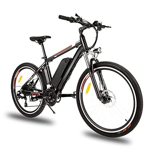 """Bici Elettriche Mountain Bike 26"""" 250W Bicicletta elettrica con batteria al litio rimovibile da 36 V 12,5 Ah, Cambio a 21 velocità, 15,6 mph,Ricarica Chilometraggio Fino a 25 Miglia"""