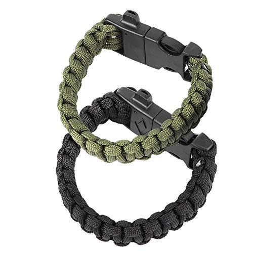 Keenso Umbrella rope Bracelet Survival Whistle Bracelet Perfect for Hiking, Camping, Fishing and Hunting