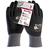 ATG A34-876IND-T9 - Guante MaxiFlex Ultimate, color gris/negro, talla 9