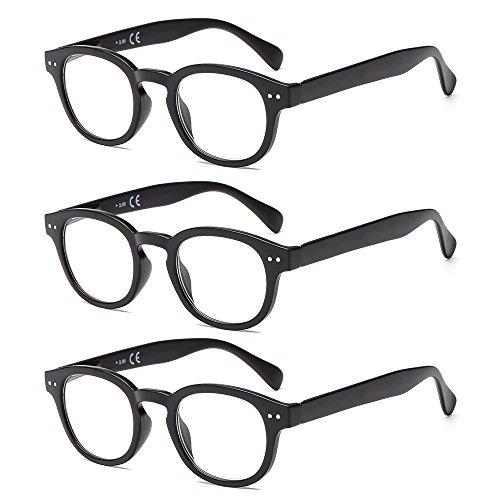Suertree Brille Lesebrille Gelbe Brille UV-Schutz Computerbrille Game Brille (0.0x Dioptrien, 3pcs round)