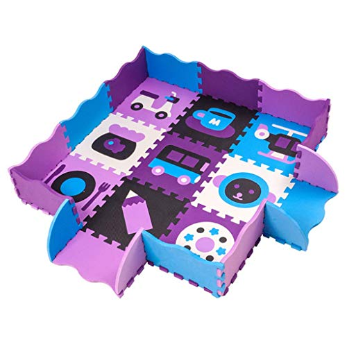 YXWL Baby Spielzaun Schaum Nähte Matte Kinder Laufstall Matratzen Puzzle Cartoon Boden Puzzle Home Spielzeug Kinder Activity Center