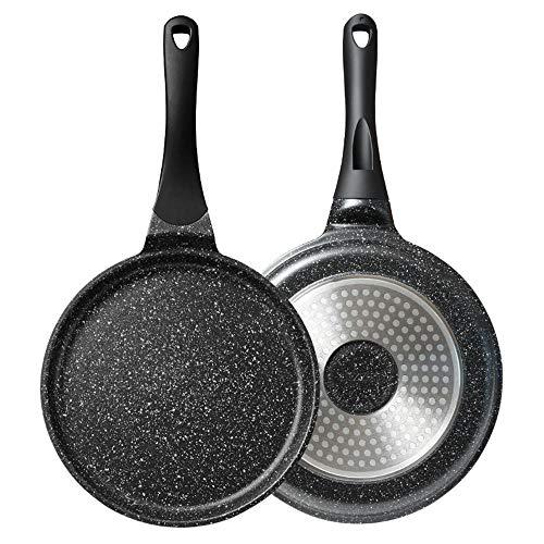 BEI&YANG Pancake Pan 8 9 inch Melaleuca Pan Cake Pancake Pancake Pan Maifan Stone Flat Bottom Padella Antiaderente Padella-24 Cm