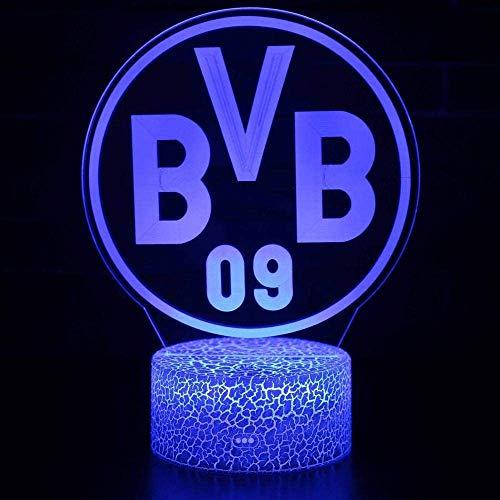 Innenbeleuchtung BVB Letter 3D Nachtlicht 3D Illusionslampe 7 Color Decor Lampe Fernbedienung für Wohnzimmer Schlafzimmer Bar Toy Valentine Geschenk