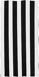 senya Black White Stripes Hand Towel Ultra Soft Luxury Towels for Bathroom 30