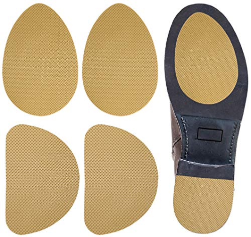 Skyfoot's Anti-Slip Shoes Pads Skid-Proof Shoes Grip Self-Adhesive Noise Reduction Non-Slip Sole Protector - 2 Pairs (Beige)
