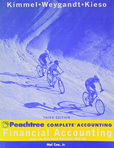 Financial Accounting, Peachtree: Tools for Business Decision Making