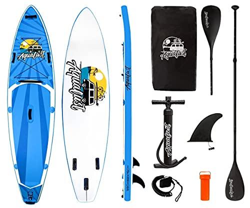 "AQUALUST 10\'8\"" Cruiser SUP Board Stand Up Paddle Surf-Board ISUP Kajakpaddel und Leash"