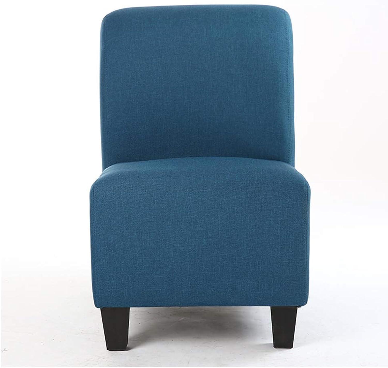SCM Single Cotton Sofa Creative Lazy Sofa Bedroom Living Room Leisure Comfortable Computer Chair Backrest 51×67cm (color   Lake blueee)