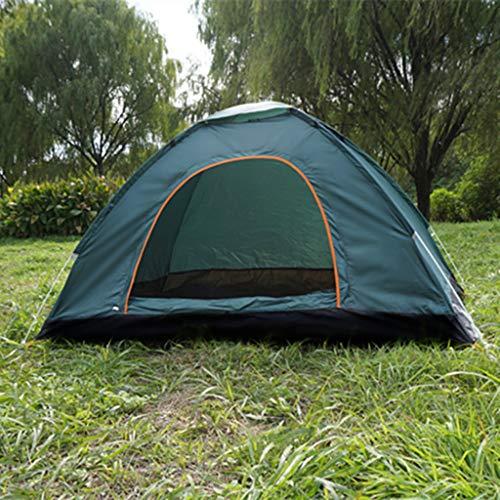 LM-BBQ Exterieur Automatique Gratuite Construire 1-2 Personnes Durable Multifonctionnel Durable Plage Camping Tente Sonde Sonde Route Camp De Vitesse, Vert Foncé