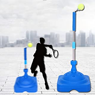 BUBM Tennis Trainer,Tennis Equipment,Tennis Ball Trainer,Practice Training Tool Sport Exercise, Tennis Base with A Retractable Iron and Tennis Rebound Player with Trainer Baseboard + 2 Training Ball