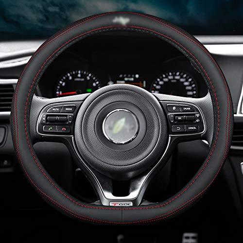 Cubiertas del Volante,para Jeep Wrangler Renegade Patriot Compass Grand Cherokee,Funda de Cuero de Microfibra para Volante de Coche DIY, Transpirable, Antideslizante