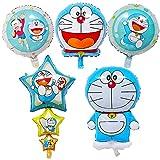 Globos de Papel de Aluminio - simyron 6pcs Globo Doraemon Globos de Helio Globo de Aire Decoración de Ccumpleaños para Niños Globo de Cumpleaños Globos de helio Juego de Decoración