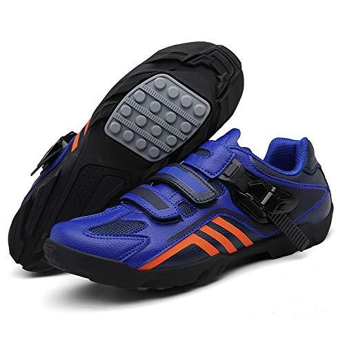 MNB Zapatos De Ciclismo para Hombre Equipo De Ciclismo Zapatos De Carreras De Carretera Suelas Zapatos De Bicicleta De Montaña Transpirables para Exteriores Talla Grande 37-47,B-8