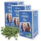 Les Papoteuses | Infusión con tomillo orgánico | certificado orgánico y comercio justo | 20 sobres | Lote de 3 cajas