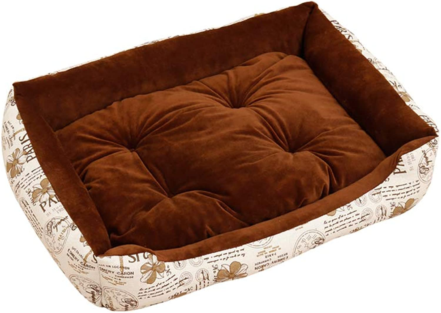 Dog Bed, Cat Dog Universal Pet Bed Four Seasons Available Square Pet Nest Cat Bed, MultiSize (color   A, Size   50 × 38 × 15cm)