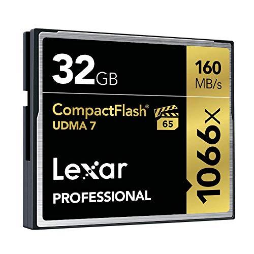 Lexar Professional Scheda Compact Flash, 32 GB, Velocità fino a 160 MB/s, 1066x, UDMA 7