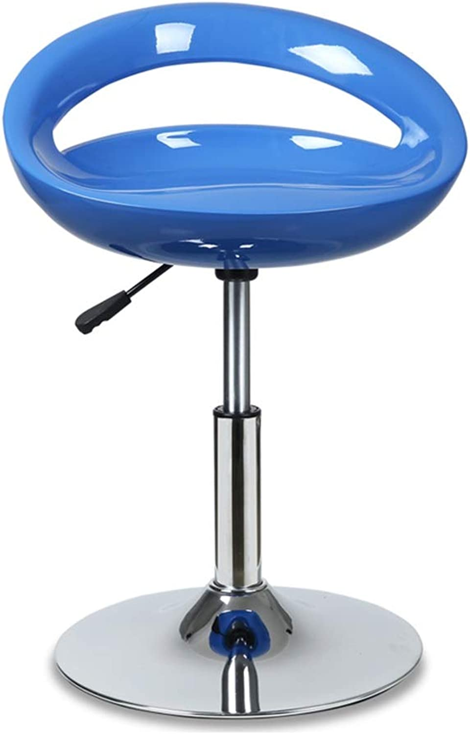 Barber Shop Bar Chair, redatable Metal Bracket Adjustable Bar Chair Tea Shop Coffee Shop Bar Stool Living Room Bedroom High Stool (color   Sky bluee, Size   41-53CM)