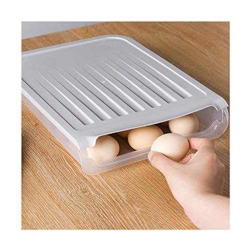 Huevera portátil Contenedor for huevos de plástico cajas de alimentos puede sostener 18 huevos, huevo de la cocina Holder, Nevera Organizador con tapa, de masa hervida / Vegetal Envase para huevos