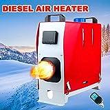 Besthuer Calentador De Estacionamiento De Combustible CamióN DiéSel Aire Acondicionado Compresor De Aire con Mando A Distancia, Pantalla LCD para Coche, AutobúS, Caravana 8 KW, 12 V