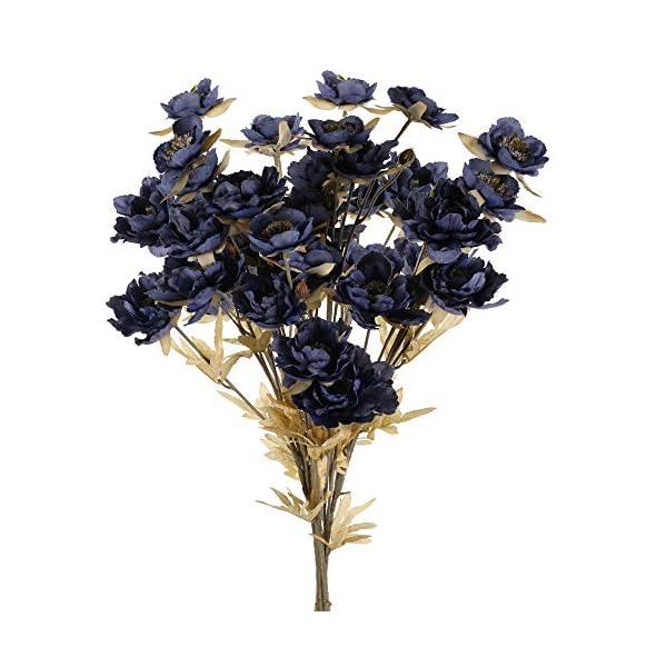 HUAESIN Centro Flores Artificiales Peonía Vintage Flor de Seda Sintetica Bouquet Flores Artificiales para Boda Hogar…
