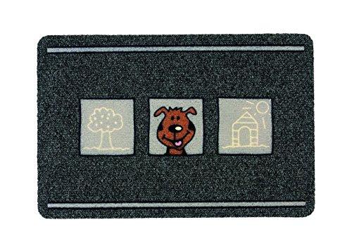 ASTRA 0455015178Premium Rips de Matte Flocky Color Felpudo, Polipropileno, Perros–Gris/Antracita, 40x 60x 0, 8cm