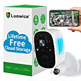 Rechargeable Battery Wireless Home Security Camera Outdoor WiFi with Light Night Vision AI Motion Detection, Surveillance Wireless Camera Outdoor,1080P Spotlight,IP65 Waterproof,2-Way Audio,Siren…