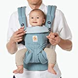 Ergobaby Omni 360 All-Position Baby Carrier for Newborn to Toddler with Lumbar Support (7-45 Pounds), Heritage Blue