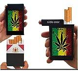 Cigarette Case Marijuana Pot Plant Weed Built on Lighter Holder Box Kings 100's ryo