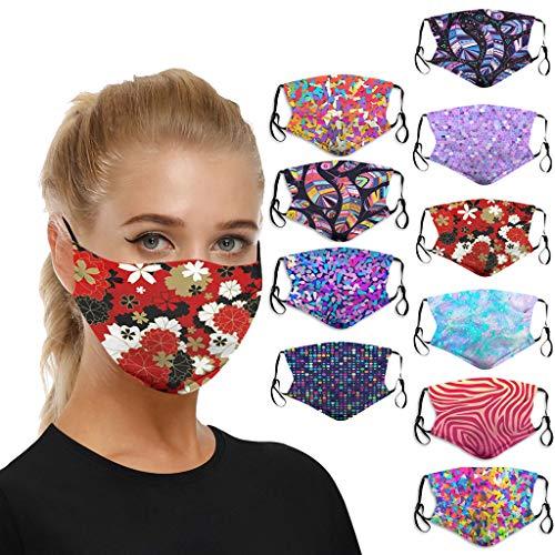 Wankting - 10 protectores de boca para protección contra el polvo, gamuza lavable