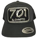 Mexico El Chapo Guzman 701 di chapito Silver hat Dark Gray mesh