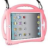 TopEsct iPad 2 Funda Niños Shock Proof Material Silicona Lightweight Kids Protector Cover Case con Manija para Apple iPad 2, iPad 3,iPad 4 (iPad 2/3/4, Rosado)