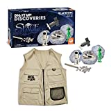 MindWare Dig It Up Discoveries: Space Toys & Explorer Vest - Party-Sized 12-Pack of Educational Discovery Digs for Kids with Tools & Fun Facts - Learn About Space! - Vest fits Ages 4-10