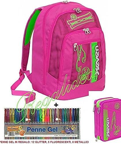 Schulrucksack Seven New Advanced Farbeful Girl + Headset + Etui + 30 ifte Gel