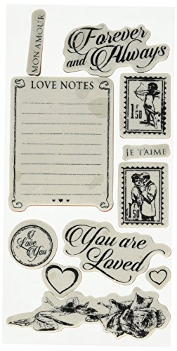Graphic 45 Mon Amour 2 Cling Stamps