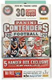 2020 Panini Contenders NFL Football Hanger Box 30 Cards 5 Hanger Box Exclusive Ruby Parallels Per Box. Chase Rookie Autographs of Justin Herbert, Joe Burrow,... rookie card picture