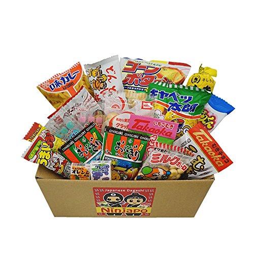 "Snack assortiti giapponesi Junk Food ""Dagashi"" 20pcs Ninjapo Pacchetto Dolci Candy"