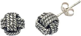 Stainless Steel Love Knot Stud Earrings