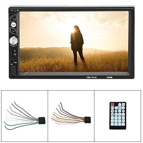 Auto Auto MP5 , Auto Stereo Radio Bluetooth 7-Zoll-Bildschirm Doppel 2Din Freisprech-Musik Hifi MP5-Player mit Fernbedienung/Rückfahrkamera