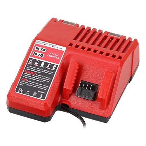 Battery Charger 48-59-1812 for Milwaukee M12 M14 M18 Lithium Battery 12V-18V 48-11-2420 48-11-2440 48-11-1820 48-11-1840 48-11-1850 48-11-2401 48-11-1890