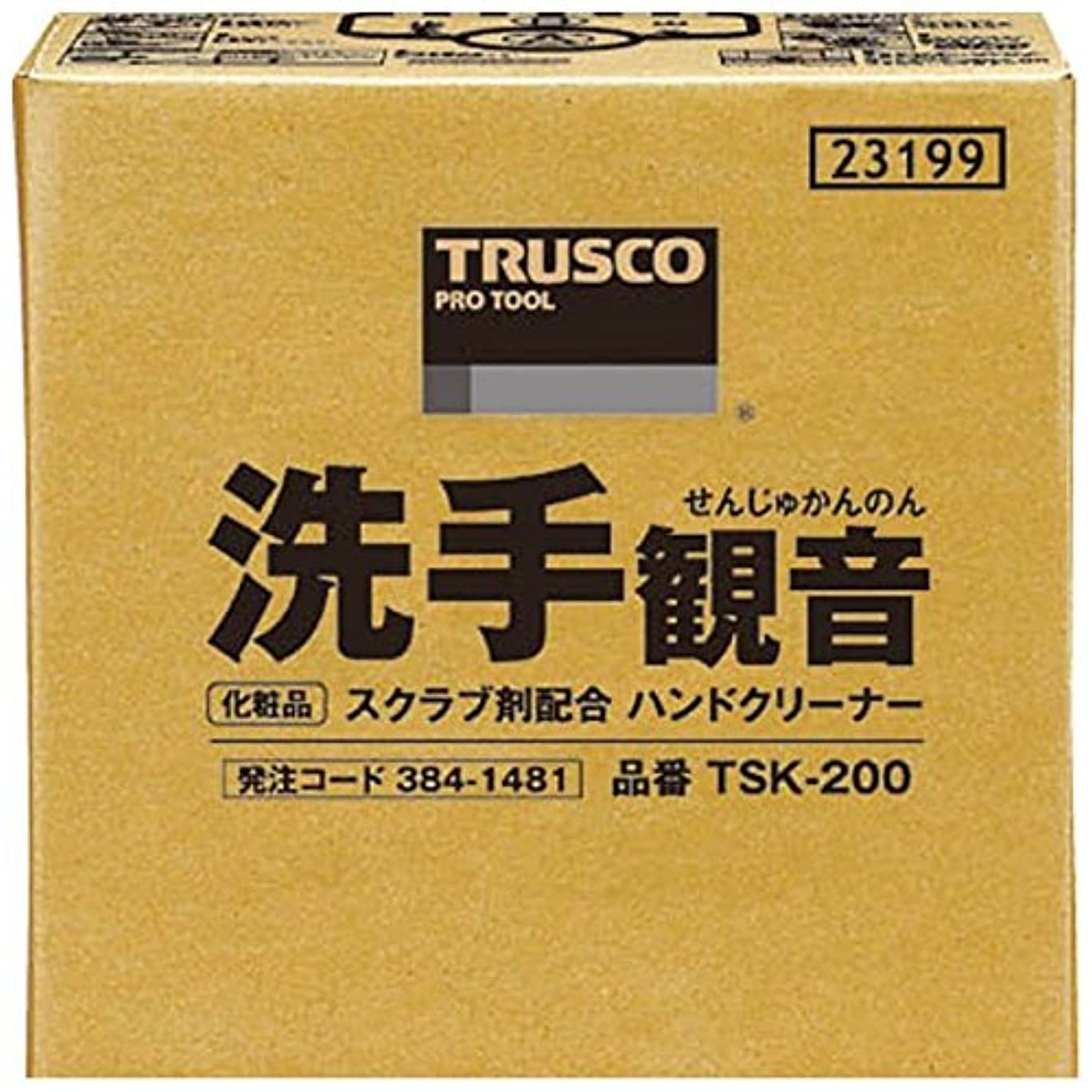 罰交通渋滞ウールTRUSCO 洗手観音 20kg バックインボックス TSK-200