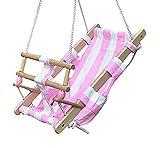 Babyschaukel Babyliegeschaukel Schaukelsitz Babysitz Babywippe Babyhängematte, Farbe:pink/weiß