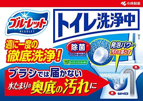 トイレ洗浄中水洗トイレの便器の底(水溜り部分)洗浄剤フレッシュミントの香り6錠