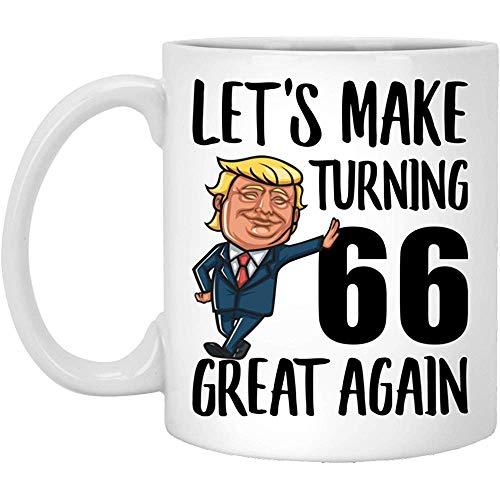 66. Geburtstags-Kaffeetasse-Geschenke für die Mann-Frauen, die im Jahre 1953 drehen 66 Jahre alt sind, machen Geburtstage groß wieder MAGA lustige weiße Schale 11 Unze