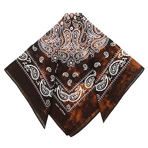 JunYe hoofdband bandana, Japanse vintage gewassen Tie-Dye Paisley Floral Unisex katoen insteekdoek sjaal hoofdband bandana Hip-Hop-armband stropdas - 3
