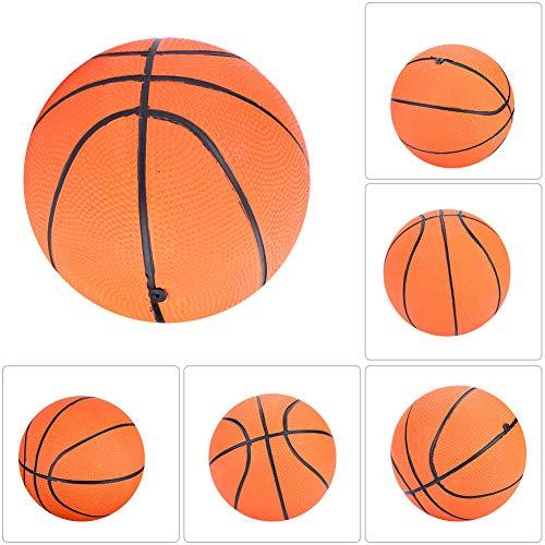 Weikeya Mini Baloncesto, Naranja Interior Mini Baloncesto Calidad Caucho con Caucho