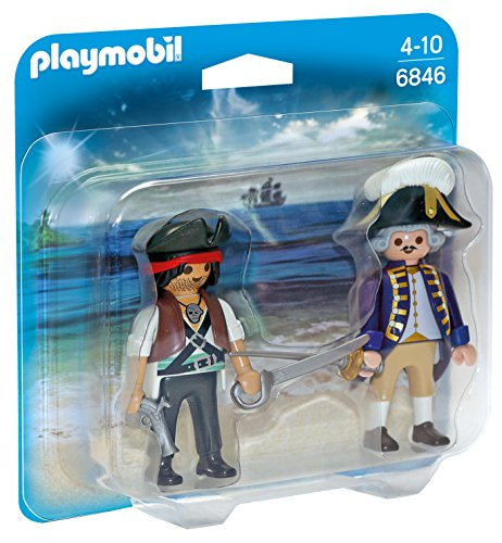 Dos figuras de pirata y soldado, Playmobil Duo Pack